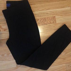 Black slim ankle pants